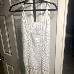 Adorable white mini dress -size small